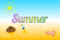Ilustracyjny lato, plaża Obrazy Royalty Free
