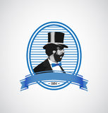 ilustracyjny loga mężczyzna szablonu rocznik Zdjęcia Royalty Free
