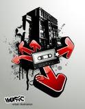 ilustracyjny muzyczny miastowy Obrazy Stock