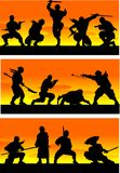 ilustracyjny ninja sinrise wektor Zdjęcia Royalty Free