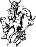 ilustracyjny nordic przygotowywający wektorowy Viking winyl Fotografia Royalty Free