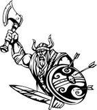ilustracyjny nordic przygotowywający wektorowy Viking winyl Obrazy Royalty Free