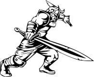 ilustracyjny nordic przygotowywający wektorowy Viking winyl Zdjęcia Royalty Free