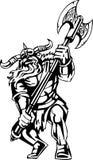 ilustracyjny nordic przygotowywający wektorowy Viking winyl Obraz Stock
