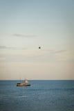 ilustracyjny oceanu statku wektor Zdjęcie Royalty Free