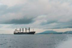 ilustracyjny oceanu statku wektor Fotografia Royalty Free