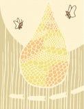 Ilustracyjny ofan Abstrakcjonistyczny pszczoła rój Zdjęcia Royalty Free