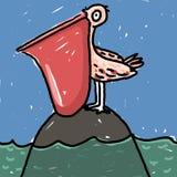 ilustracyjny pelikan Zdjęcie Stock