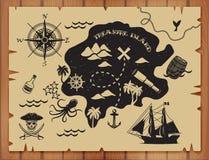ilustracyjny pirata raster setu wektor Zdjęcia Stock