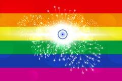 Ilustracyjny pomysł świętuje decriminalisation homoseksualna płeć w India royalty ilustracja