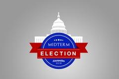 Ilustracyjny pomysł dla Listopadu 2018 USA połowy semestru wybory royalty ilustracja