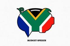 Ilustracyjny pomysł dla południe - afrykański przemówienie dotyczące budżetu royalty ilustracja