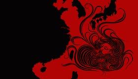 Ilustracyjny pomysł dla tajfunu kłoszenia w kierunku Tajwan, Japonia, Południowego Korea i Chiny, royalty ilustracja