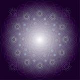 Ilustracyjny purpurowy mistyczny wzór Obraz Royalty Free