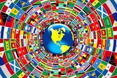 Światowe flaga Zdjęcia Stock