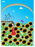ilustracyjny słonecznik Obraz Stock