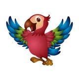 ilustracyjny siatki papugi wektor Fotografia Stock