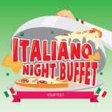 Ilustracyjny wektor Włoski jedzenie również zwrócić corel ilustracji wektora Zdjęcia Royalty Free