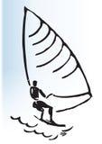 ilustracyjny windsurfer ilustracja wektor