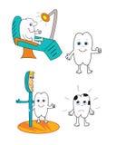 ilustracyjny ząb Obraz Royalty Free