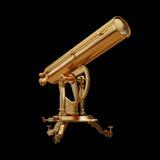 Ilustracyjny złoty teleskop solated ilustracja wektor
