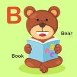 Ilustracyjny Zwierzęcy abecadło listu niedźwiedź, książka Zdjęcie Stock
