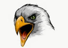 Ilustracyjnych Eagle trójboków niska poli- sztuka na białym tle royalty ilustracja