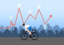 Ilustrador-bicicleta para a saúde ilustração do vetor