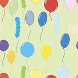 Ilustrador colorido do vetor do teste padrão dos balões Fotografia de Stock