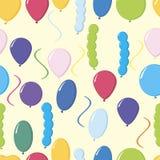 Ilustrador colorido do vetor do teste padrão dos balões Fotos de Stock Royalty Free