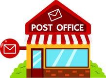 Ilustrador de construções da estação de correios Fotos de Stock