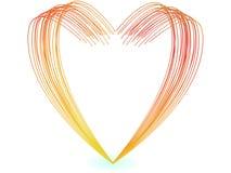 Ilustrador del vector de las líneas coloridas dimensión de una variable del corazón libre illustration
