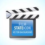 Ilustrador del vector del icono del reproductor multimedia Imagenes de archivo