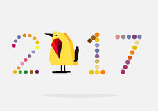ilustrador 2017 del vector del pollo fotografía de archivo