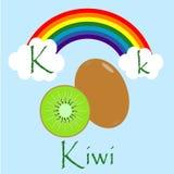 Ilustrador do alfabeto de K Foto de Stock