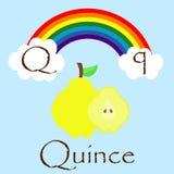 Ilustrador do alfabeto de Q Fotos de Stock