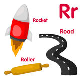 Ilustrador do alfabeto de R Foto de Stock Royalty Free