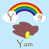 Ilustrador do alfabeto de Y Imagens de Stock Royalty Free