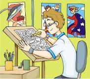 Ilustrador do Super-hero Imagens de Stock