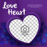 Ilustrador do vetor do coração do amor ilustração do vetor