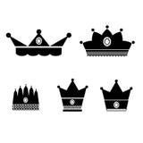 Ilustrador EPS 10 do vetor das coroas Fotos de Stock Royalty Free