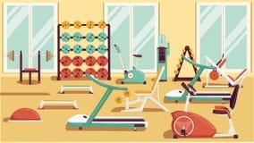 Ilustrações coloridas lisas do Gym 01 Imagens de Stock