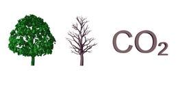Ilustração abstrata do CO2 Imagens de Stock Royalty Free