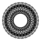 Ilustração abstrata - linhas preto e branco Foto de Stock