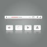 Ilustração ajustada do vetor do ícone do botão da vídeo dos meios Imagem de Stock Royalty Free
