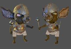 Ilustração antiga do guerreiro 3d do rato Fotos de Stock Royalty Free