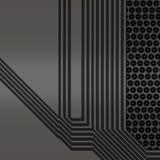 Ilustração artificial da placa de circuito Fotografia de Stock
