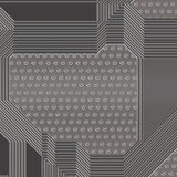 Ilustração artificial da placa de circuito Foto de Stock