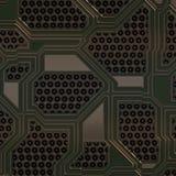 Ilustração artificial da placa de circuito Foto de Stock Royalty Free