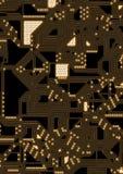 Ilustração artificial do circuito do cyber Fotografia de Stock